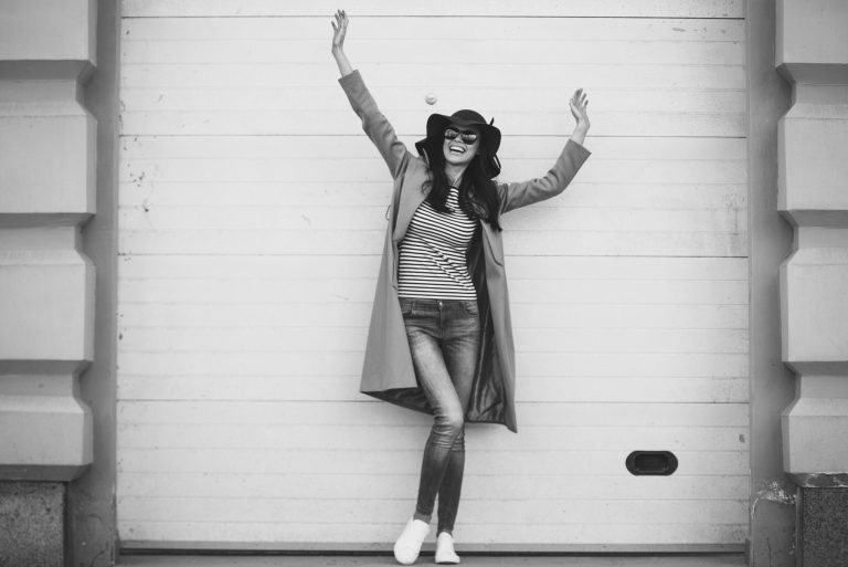 happy woman hands in the air